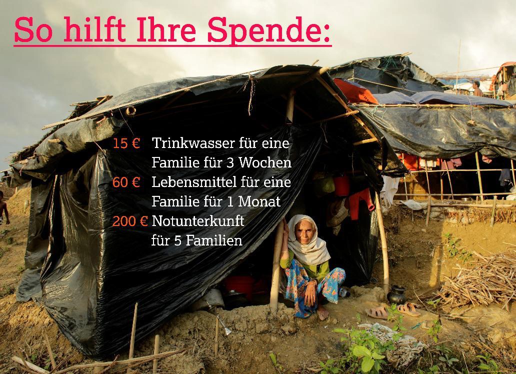 Helpage bittet um Spenden für die älteren Menschen der Rohinga